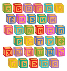 Alphabet russian blocks vector