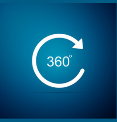 angle 360 degrees icon isolated on blue background vector image