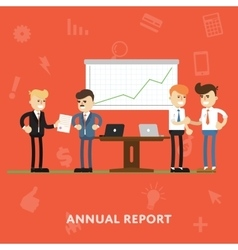 Annual report to the company management vector
