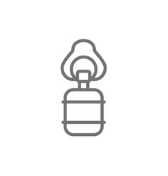 Artificial ventilation bag line icon isolated vector