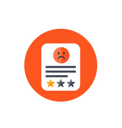 Bad review icon vector