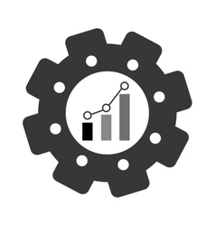bar graph chart icon image vector image