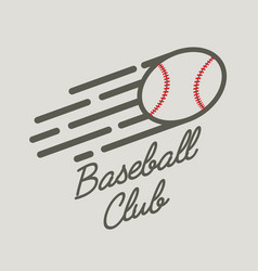 baseball club logo badge or symbol design concept vector image