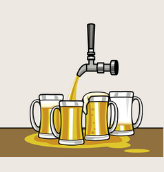 beer taps vector image