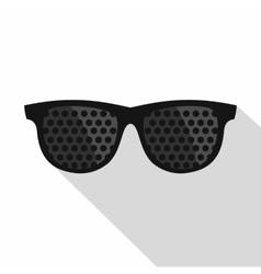 Bifocals icon flat style vector image