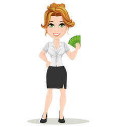 businesswoman 13 vector image