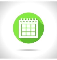 calendar icon Epsflat0 vector image