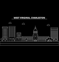 Charleston silhouette skyline usa - charleston vector
