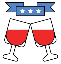 cheers united state independence day related icon vector image