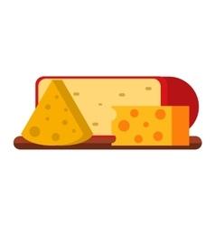 Cheese varieties vector