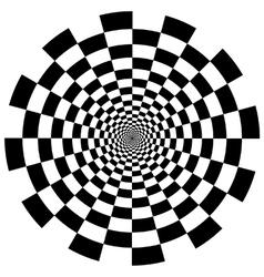 Chequer board circular tunnel vector