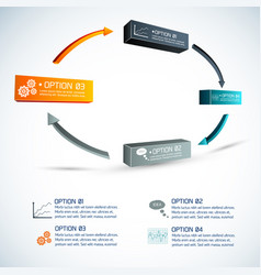 Circle of options infographics vector