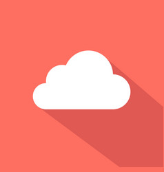 cloud icon flat design vector image