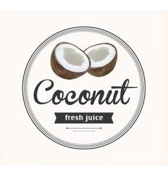 Coconut juice Detailed label vector