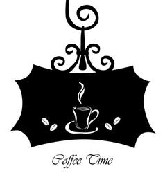 coffee signboard vector image