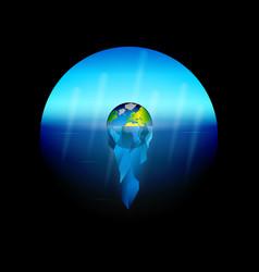 Conceptual on theme global warming vector