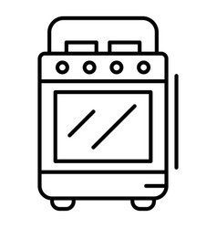 cooker stove icon outline style vector image
