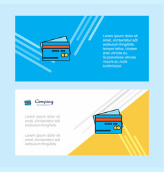 credit card abstract corporate business banner vector image