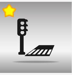 Crosswalk black icon button logo symbol vector