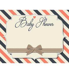 Customizable baby shower invitation in retro style vector