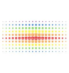 dollar banknote spectrum halftone matrix vector image
