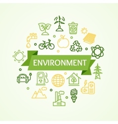 Ecology environment concept card vector