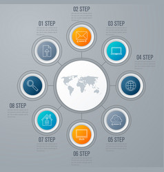 emplate for cycle diagram graph presentation vector image