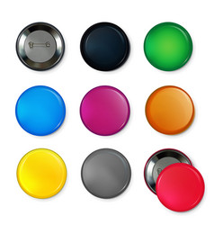 empty circle badges or buttons at different colors vector image