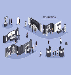 Exhibition isometric vector