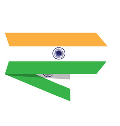 flag of india on a label vector image
