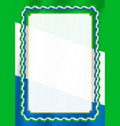 frame and border of ribbon with sierra leone flag vector image