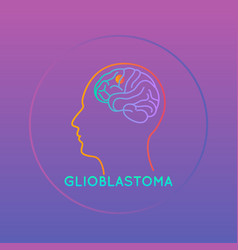 Glioblastoma icon brain vector