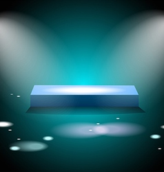 Glowing square podium vector image