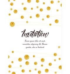 Gold polka dot decoration vector