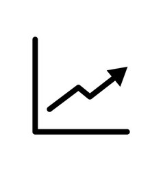 graph icon growth symbol vector image