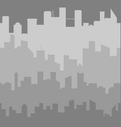 grey city skyline seamless vector image