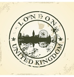 Grunge rubber stamp with London United Kingdom vector image vector image