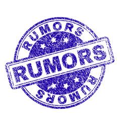 Grunge textured rumors stamp seal vector