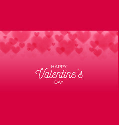 horizontal valentines hearts bokeh background vector image