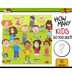 How many kids activity game vector