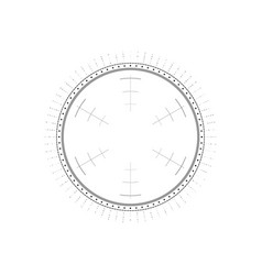 Hud circle infographic elements sci-fi round head vector