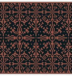 Knitting pattern sweater 1d3wBlue vector