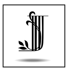 Letter j made with leaves vector image