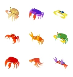 Lobster icons set cartoon style vector