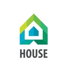 Logo House in the form of arrows vector
