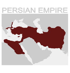 Map of the persian empire vector