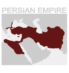 Map persian empire vector