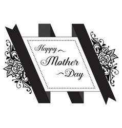Mother day gretting card flower vector