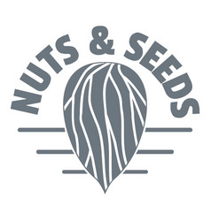 Nut and seed company logo vintage style vector