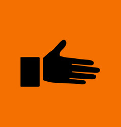 Open hend icon vector